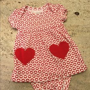 Carter's Newborn Valentine Dress Onesie Hearts NB
